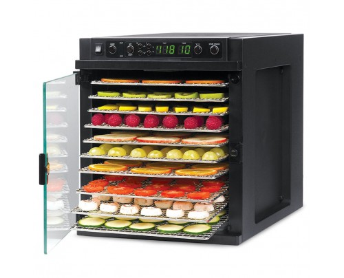 Tribest Sedona Express Rawfood Dehydrator SDE-S6780-B Black with Stainless Steel Trays