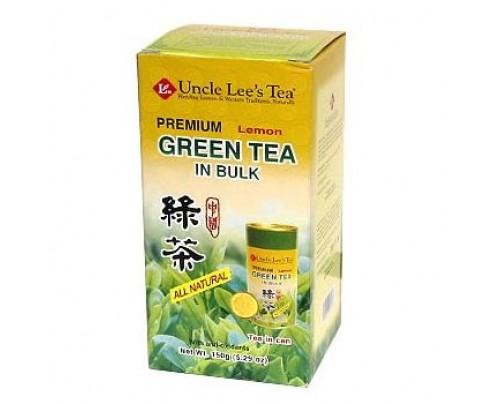 Uncle Lee's Loose Premium Bulk Lemon Green Tea 5.29 oz.