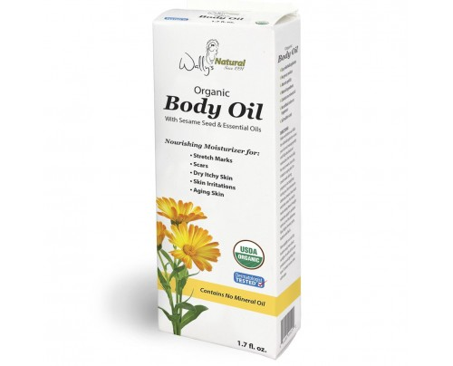 Wally's Natural Products Organic Body Oil 1.7 fl. oz.