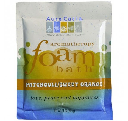 Aromatherapy Foam Bath Patchouli & Orange 2.5oz.
