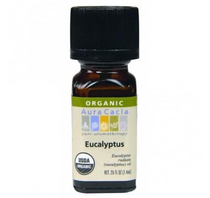 Organic Eucalyptus Essential Oil 0.25oz.