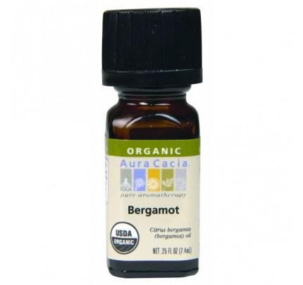 Organic Natural Bergamot Essential Oil 0.25oz.