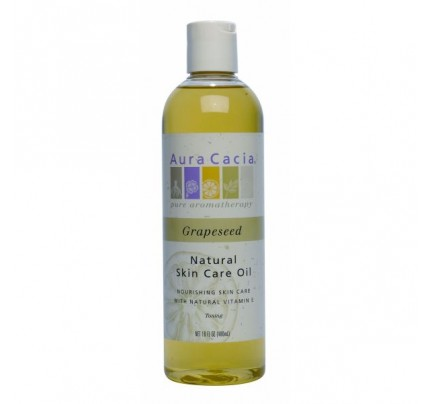Natural Skin Care Oil Grapeseed with Natural Vitamin E 16oz.