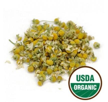Organic Chamomile Flowers Whole Bulk 1lb.