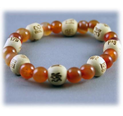 Lucky Karma Beads Karmalogy Carnelian - Empowerment & Wisdom Bracelet