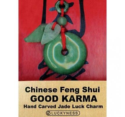 Feng Shui Good Karma Jade Luck Charm