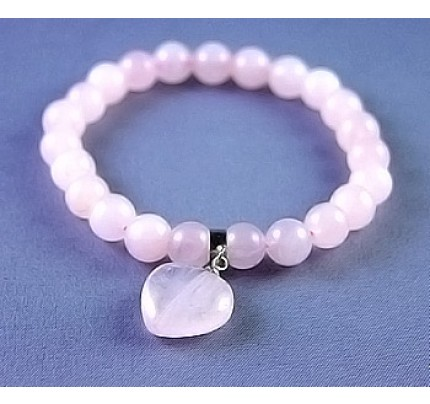 Live, Love, Hope Love - Hanging Heart Rose Quartz