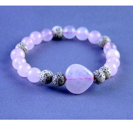 Live, Love, Hope Faith & Hope - Seeds of the Lotus Flower and Rose Quartz