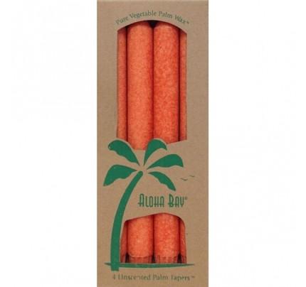 "Candle 9"" Taper Burnt Orange 4-pack"