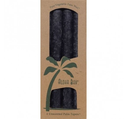 "Candle 9"" Taper Charcoal 4-pack"
