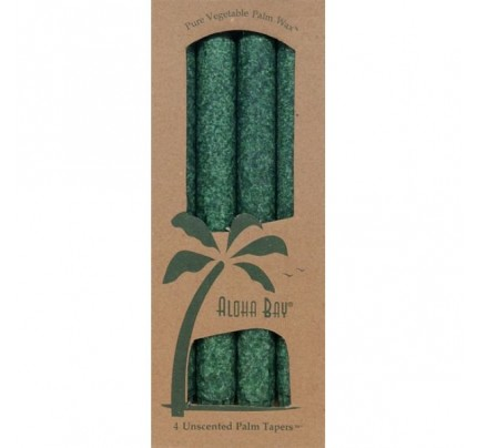 "Candle 9"" Taper Green 4-pack"