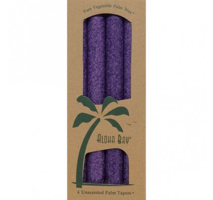 "Candle 9"" Taper Violet 4-pack"