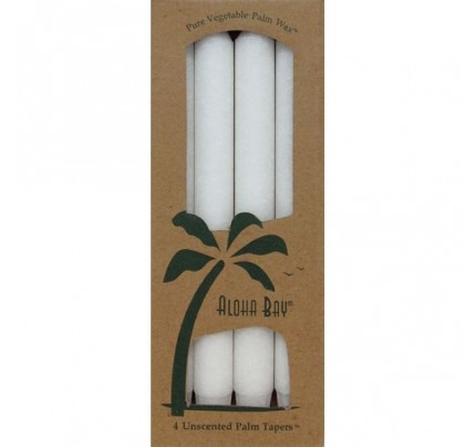 "Candle 9"" Taper White 4-pack"