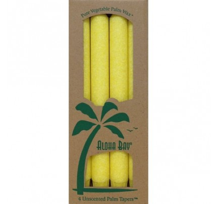 "Candle 9"" Taper Yellow 4-pack"