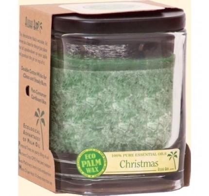 Candle Aloha Jar Christmas Green 8oz.