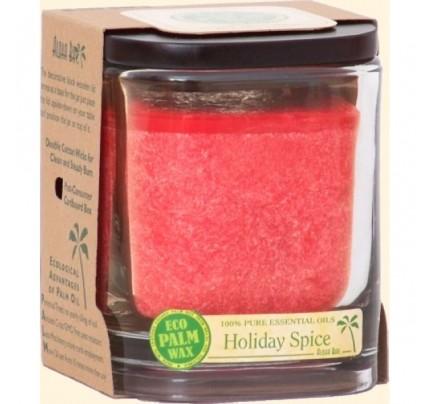 Candle Aloha Jar Holiday Spice Red 8oz.