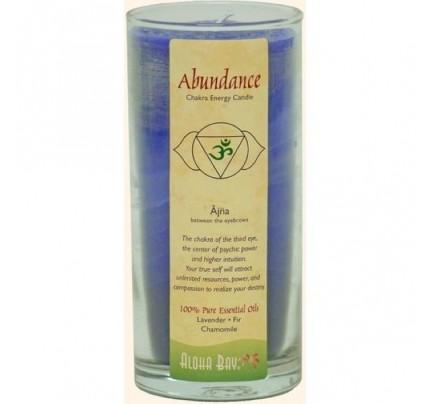 Candle Chakra Energy Jar Abundance (Ajna) Indigo 11oz.