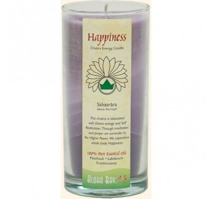 Candle Chakra Energy Jar Happiness (Sahasrara) Violet 11 oz.