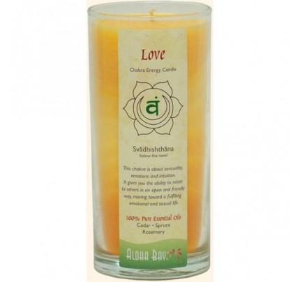 Candle Chakra Energy Jar Love (Svadhishthana) Orange 11oz.