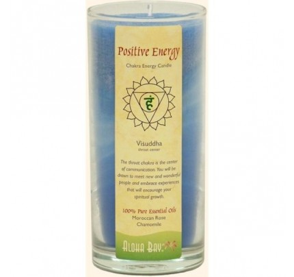 Candle Chakra Energy Jar Positive Energy (Visuddha) Blue 11oz.