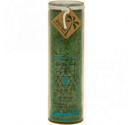 Candle Chakra Jar Unscented Healing (Anahata) Green 16oz.