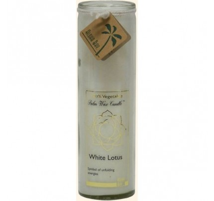 Candle Chakra Jar Unscented Lotus White 16oz.