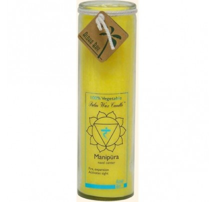 Candle Chakra Jar Unscented Protection (Manipura) Yellow 16oz.
