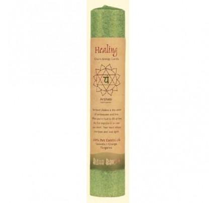 """Candle Chakra Pillar Healing (Anahata) Green 8"""""""