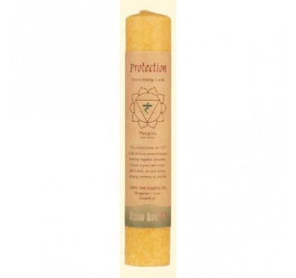 Candle Chakra Pillar Protection (Manipura) Yellow 8""