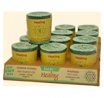 Candle Chakra Votive Healing (Anahata) Green 12-pack