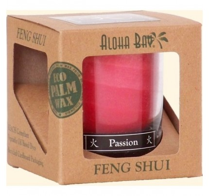 Candle Feng Shui Gift Box Fire (Passion) Red 2.5oz.
