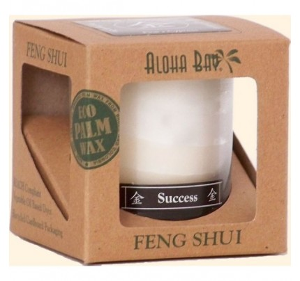 Candle Feng Shui Gift Box Metal (Success) Ivory 2.5oz.