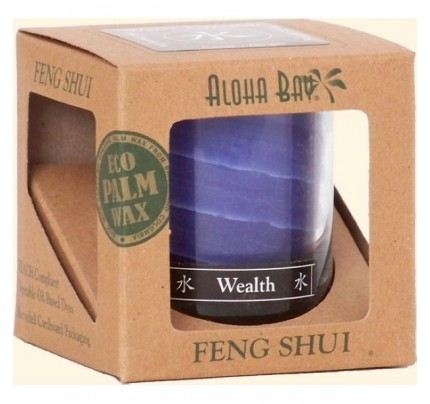 Candle Feng Shui Gift Box Water (Wealth) Indigo 2.5oz.