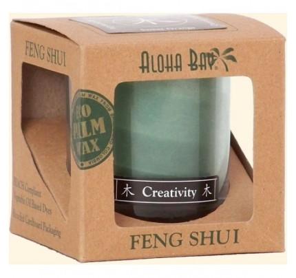 Candle Feng Shui Gift Box Wood (Creativity) Green 2.5oz.