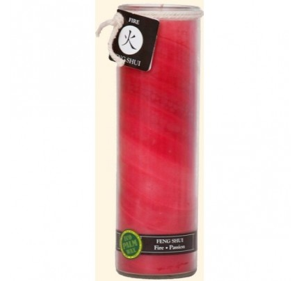 Candle Feng Shui Jar Fire (Passion) Red 16oz.