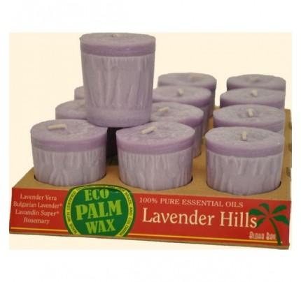 Candle Votives Eco Palm Wax Lavender Hills 12-pack
