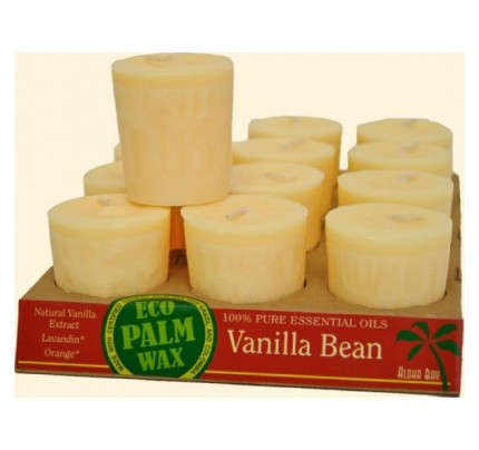 Candle Votives Eco Palm Wax Vanilla Bean Cream 12-pack