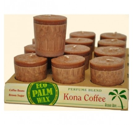Candle Votives Kona Coffee Brown 12-pack