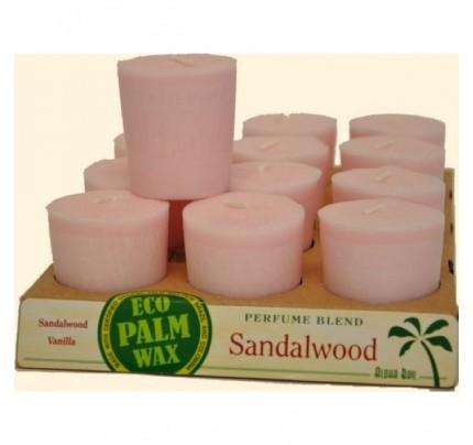 Candle Votives Sandalwood Soft Pink 12-pack