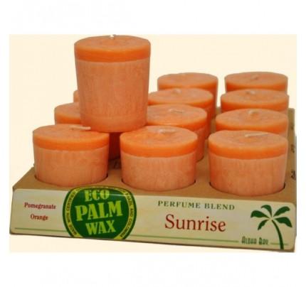 Candle Votives Sunrise Orange-Pink 12-pack