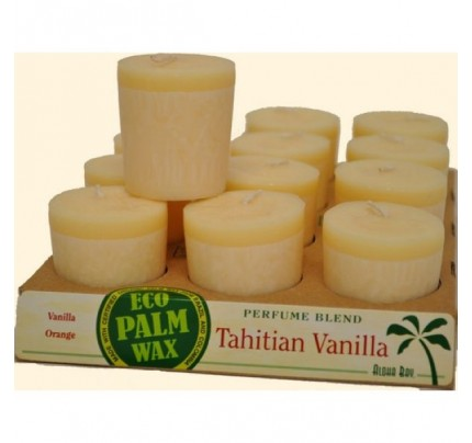 Candle Votives Tahitian Vanilla Ivory 12-pack