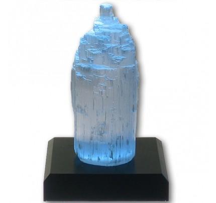 "Chakra Selenite Crystal with Lamp Led & Adapter 4"""
