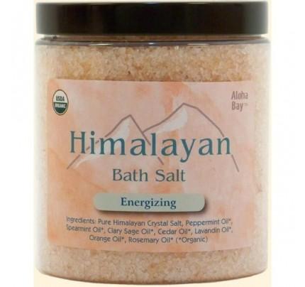 Himalayan Bath Salt Organic Energizing 24oz.