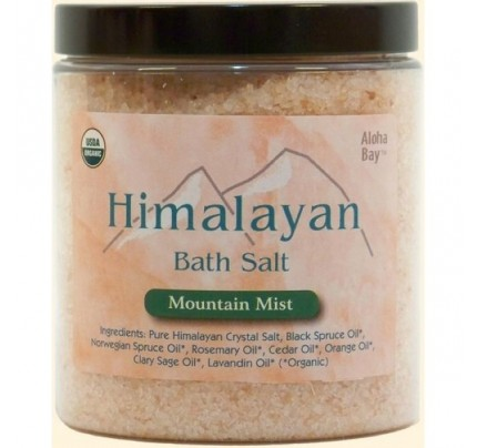 Himalayan Bath Salt Organic Mountain Mist 24oz.