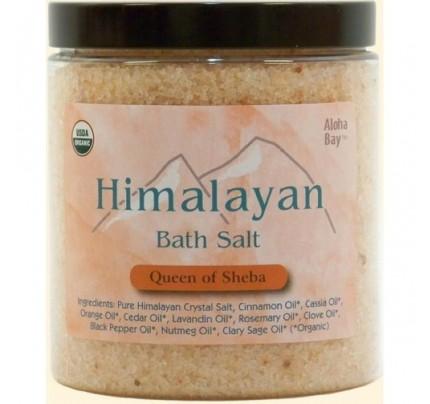 Himalayan Bath Salt Organic Queen of Sheba 24oz.