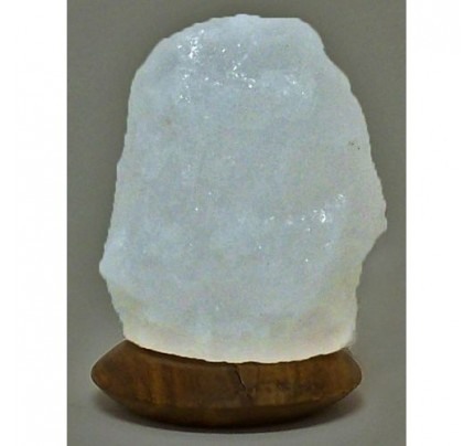 Himalayan Salt Crystal Lamp USB White 4""