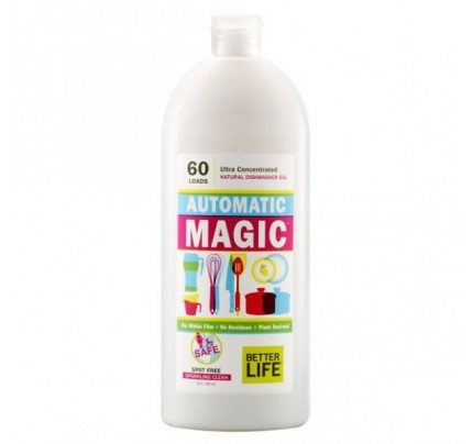 Automatic Magic Natural Dishwasher Gel Unscented 30 oz.