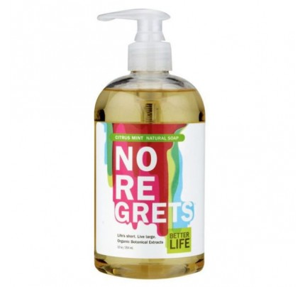 No Regrets Natural Liquid Hand & Body Soap Citrus & Mint 12 oz.