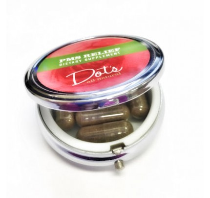 Dot's All Natural PMS Relief Compact 400 mg 7 Vegetarian Capsules