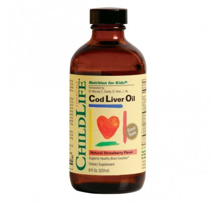 Cod Liver Oil Strawberry 8 fl. oz.
